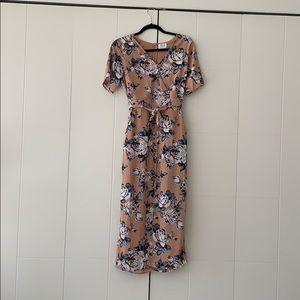 Never worn pink and blue dress size medium